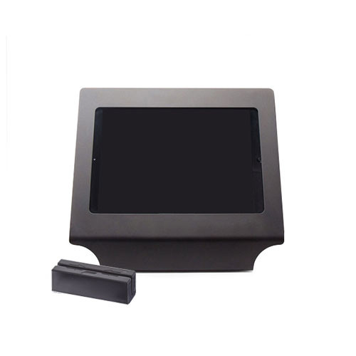 Vault Simplicity Stand for iPad Air and Air 2, Black, Supports ID Tech